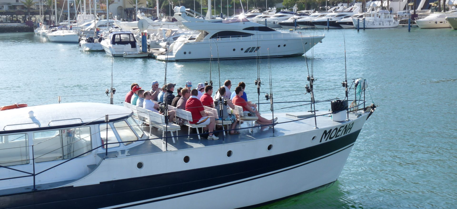 Albufeira fishing trips for stag do large groups